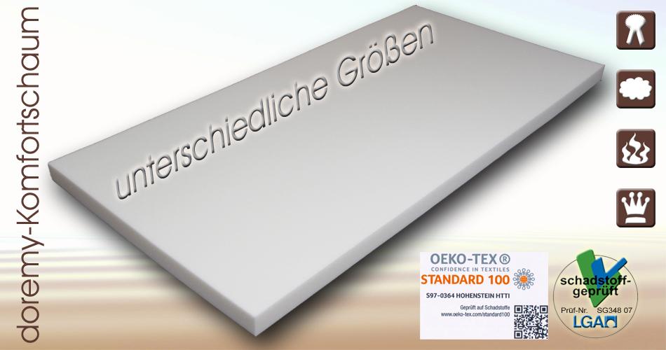 polster akustik schaumstoff schaumstoffplatten schaum matratze rg25 40 rg35 50 ebay. Black Bedroom Furniture Sets. Home Design Ideas