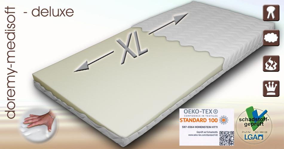 xl multizonen hq visco matratzen auflage wasserbett feeling ca 12 cm rg85 ebay. Black Bedroom Furniture Sets. Home Design Ideas